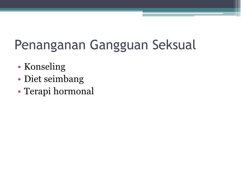Penanganan Gangguan Seksual