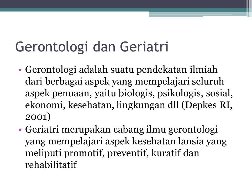 Gerontologi dan Geriatri