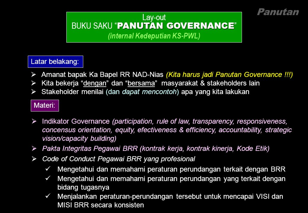 Panutan Lay-out BUKU SAKU PANUTAN GOVERNANCE