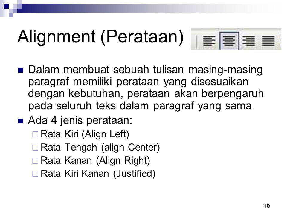 Alignment (Perataan)