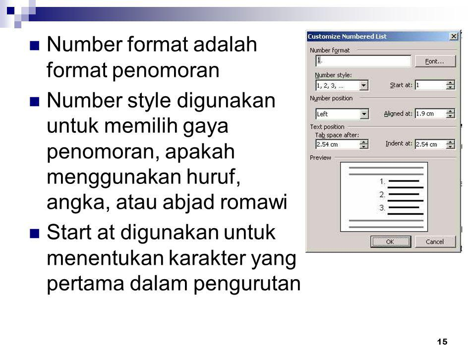 Number format adalah format penomoran