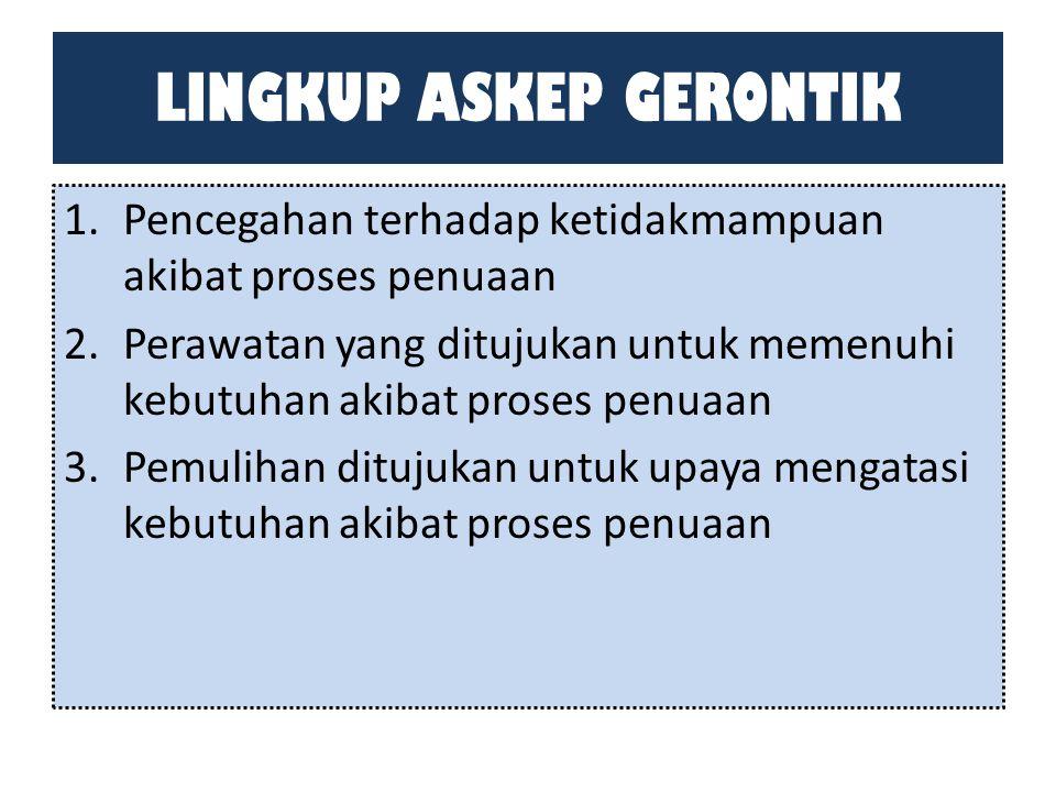 LINGKUP ASKEP GERONTIK