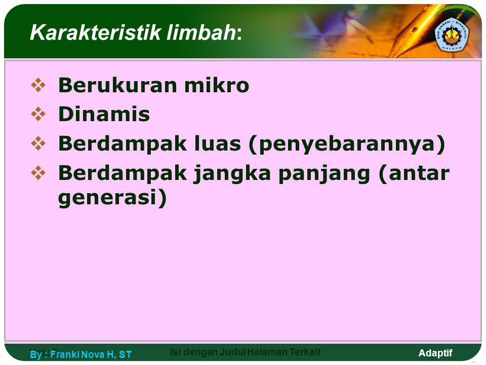 Karakteristik limbah: