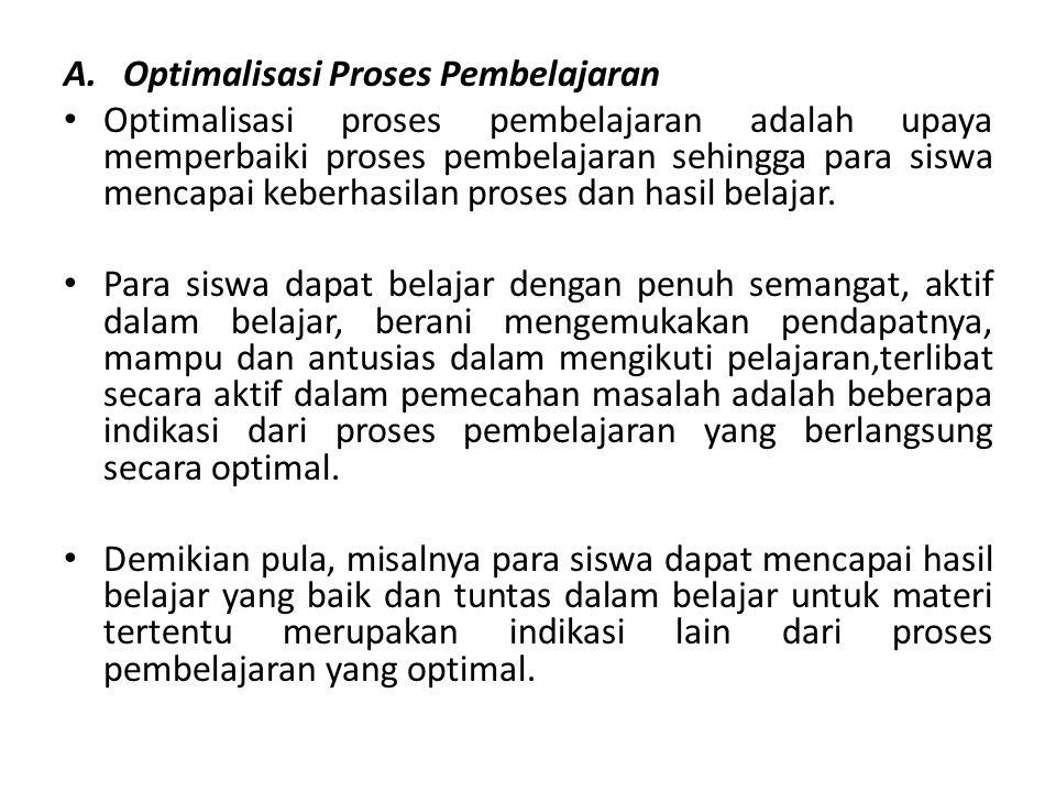 Optimalisasi Proses Pembelajaran