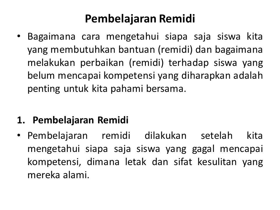 Pembelajaran Remidi