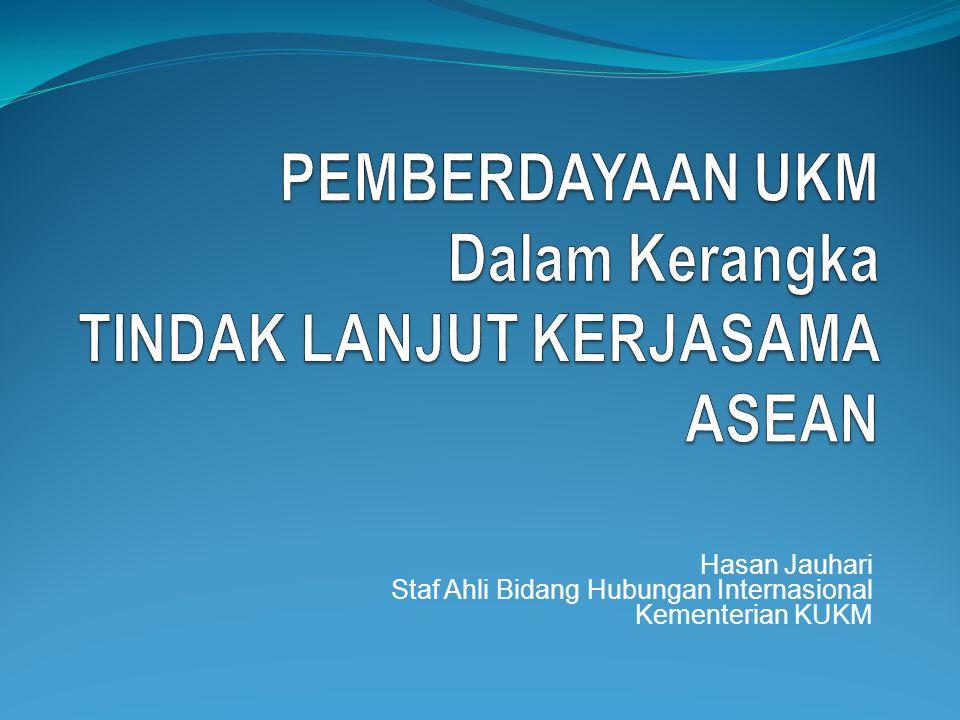 PEMBERDAYAAN UKM Dalam Kerangka TINDAK LANJUT KERJASAMA ASEAN