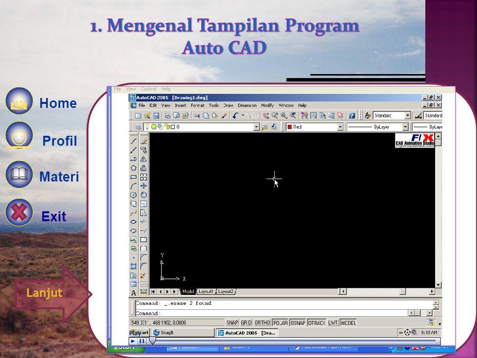 1. Mengenal Tampilan Program Auto CAD