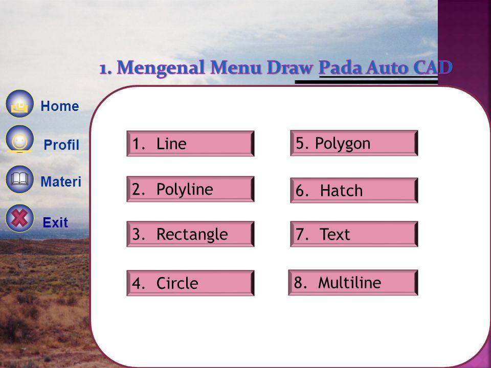 1. Mengenal Menu Draw Pada Auto CAD