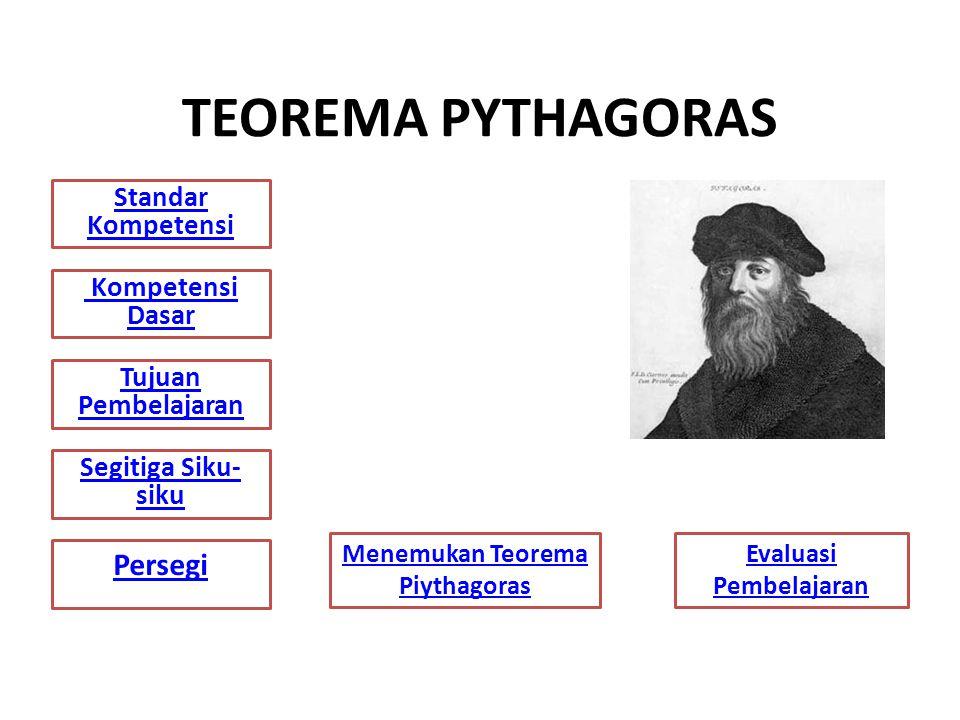 Menemukan Teorema Piythagoras Evaluasi Pembelajaran