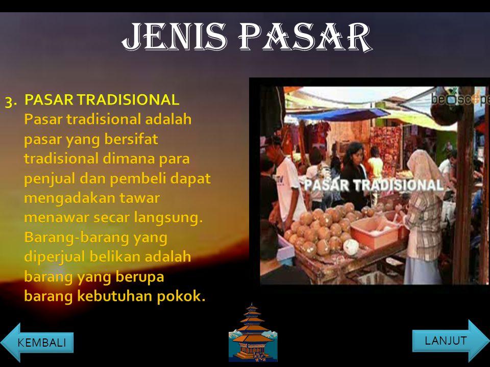JENIS PASAR