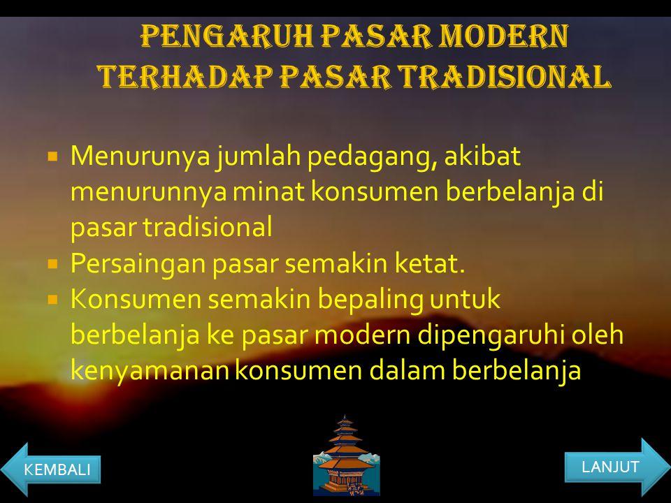 PENGARUH PASAR MODERN TERHADAP PASAR TRADISIONAL