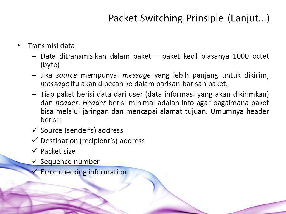 Packet Switching Prinsiple (Lanjut...)