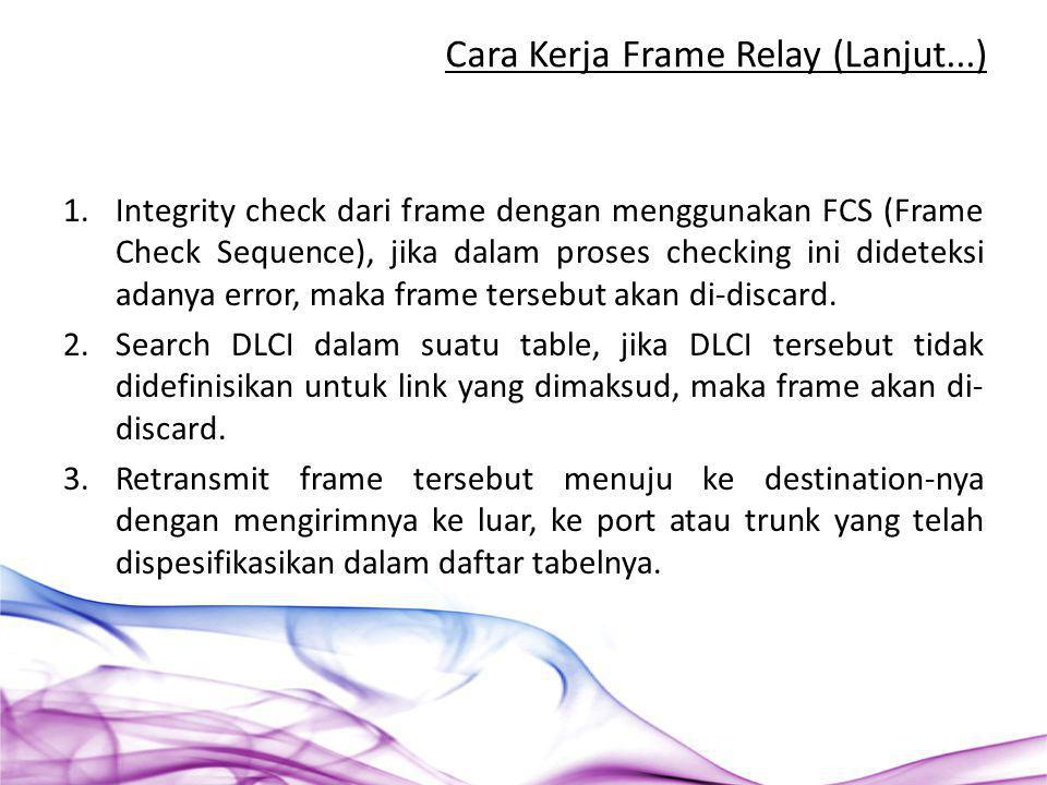 Cara Kerja Frame Relay (Lanjut...)