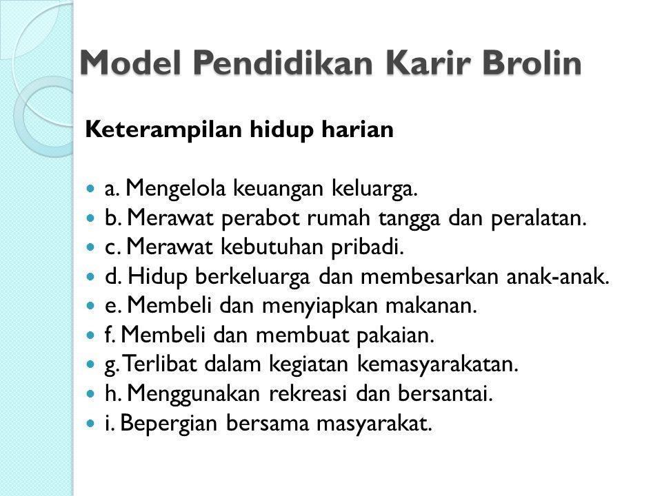 Model Pendidikan Karir Brolin