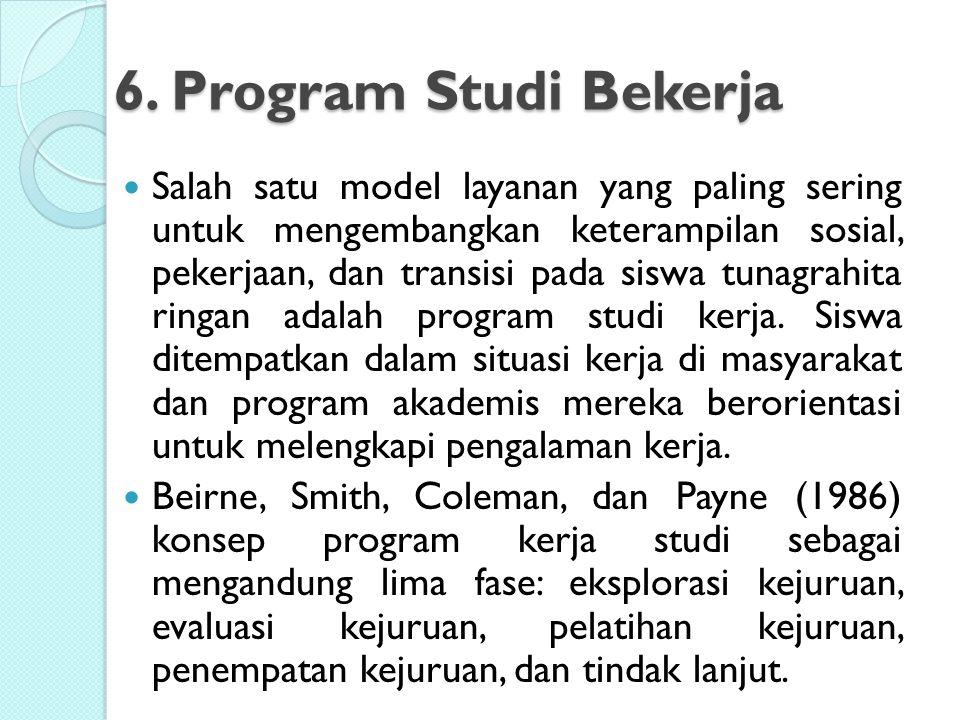 6. Program Studi Bekerja