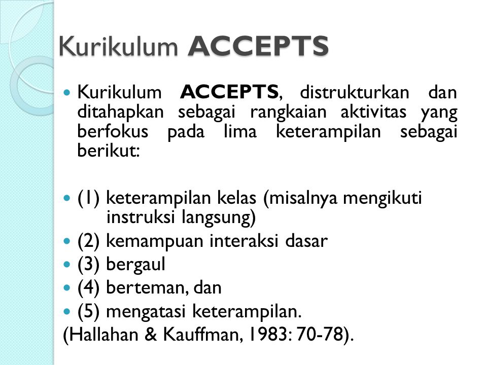 Kurikulum ACCEPTS