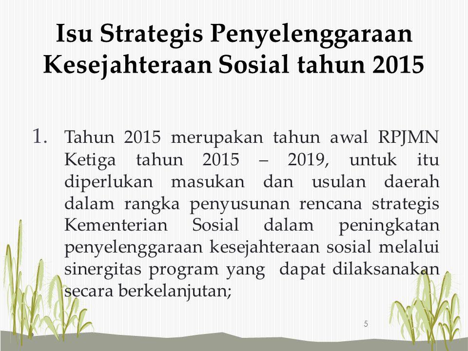 Isu Strategis Penyelenggaraan Kesejahteraan Sosial tahun 2015