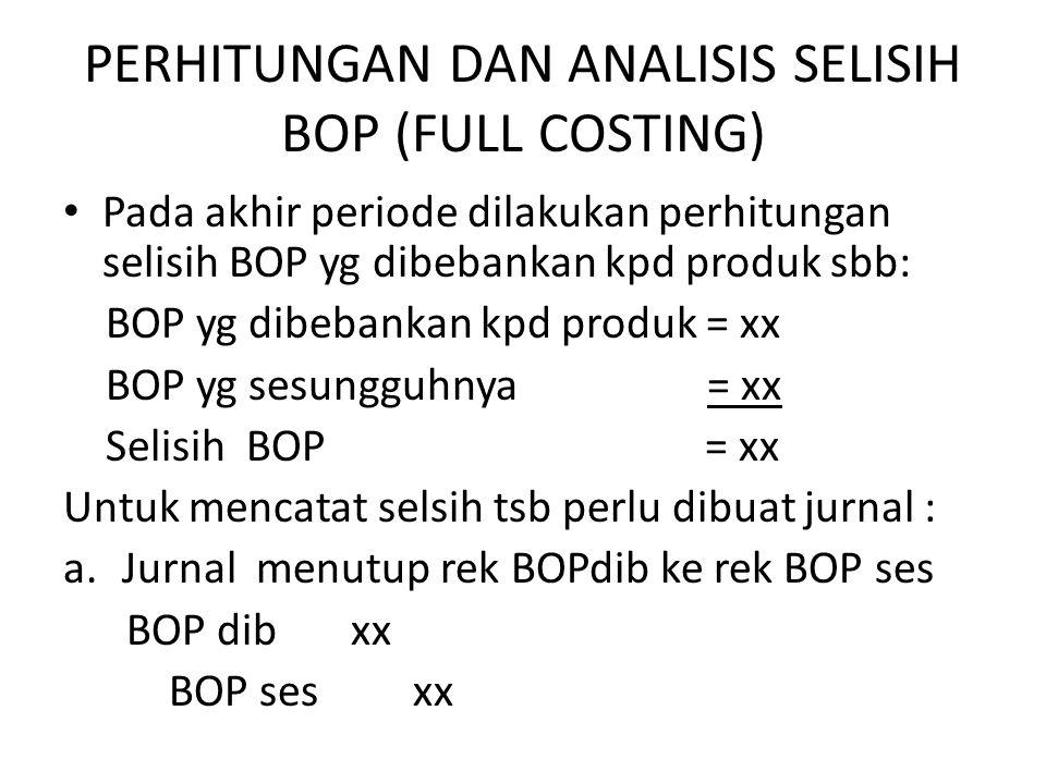 PERHITUNGAN DAN ANALISIS SELISIH BOP (FULL COSTING)