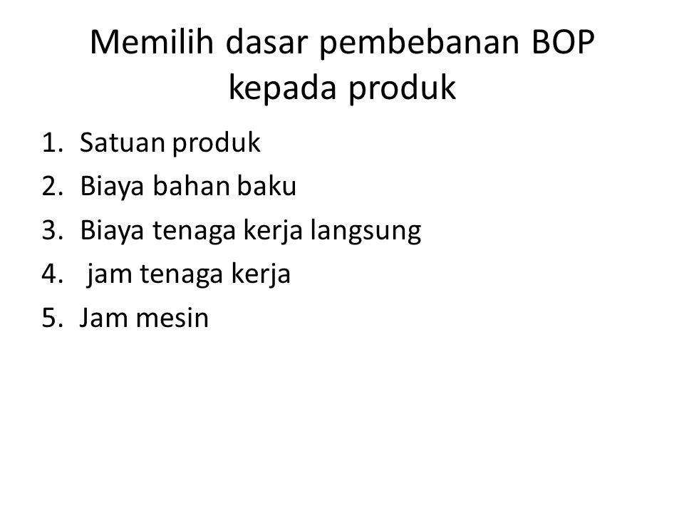 Memilih dasar pembebanan BOP kepada produk