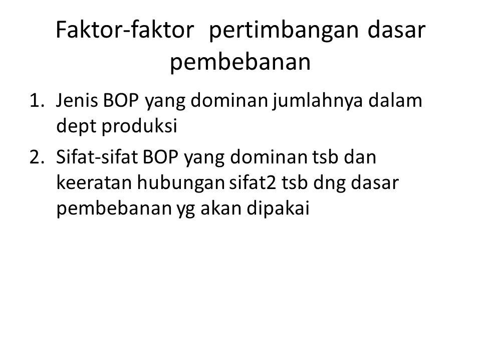Faktor-faktor pertimbangan dasar pembebanan