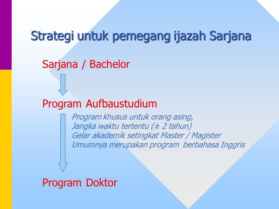 Strategi untuk pemegang ijazah Sarjana