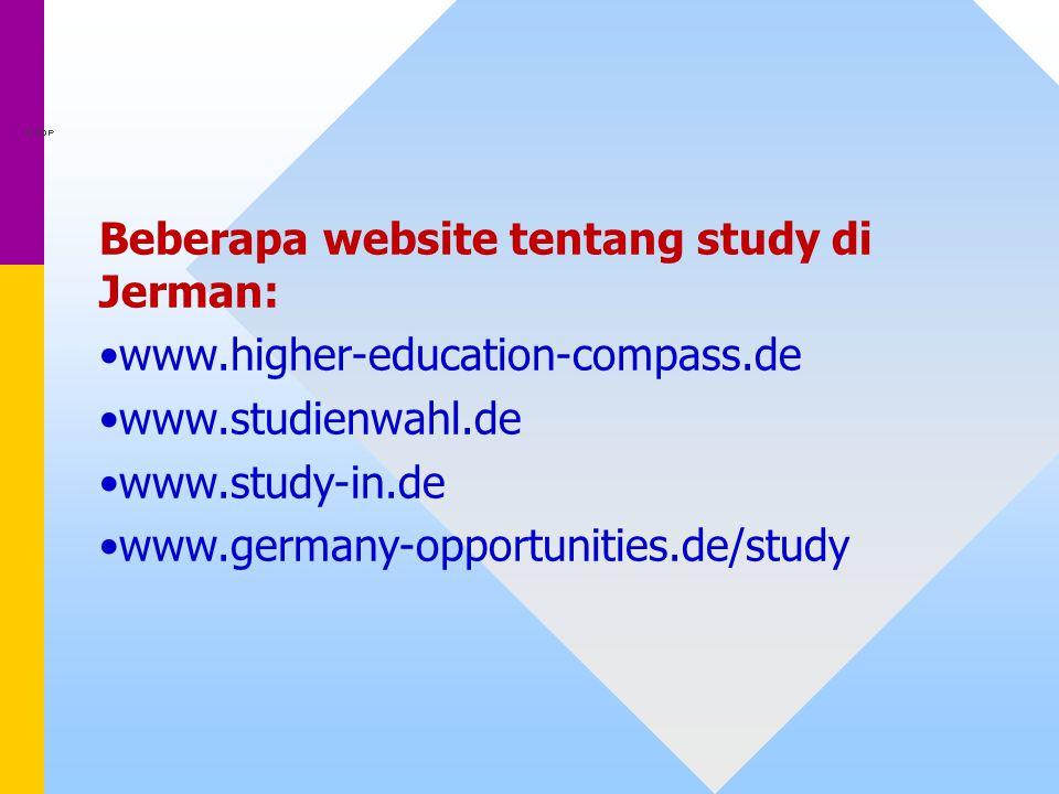 Beberapa website tentang study di Jerman: