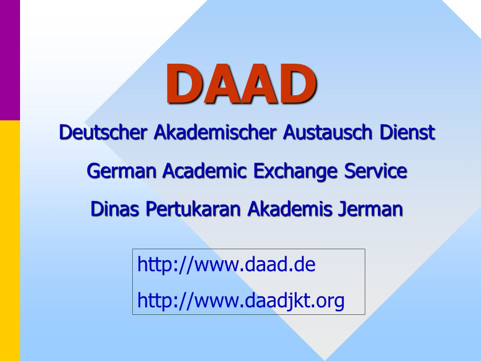 DAAD Deutscher Akademischer Austausch Dienst