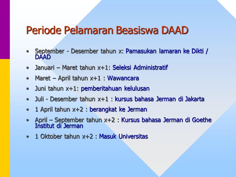 Periode Pelamaran Beasiswa DAAD