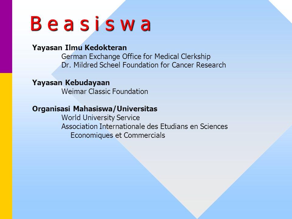 B e a s i s w a Yayasan Ilmu Kedokteran