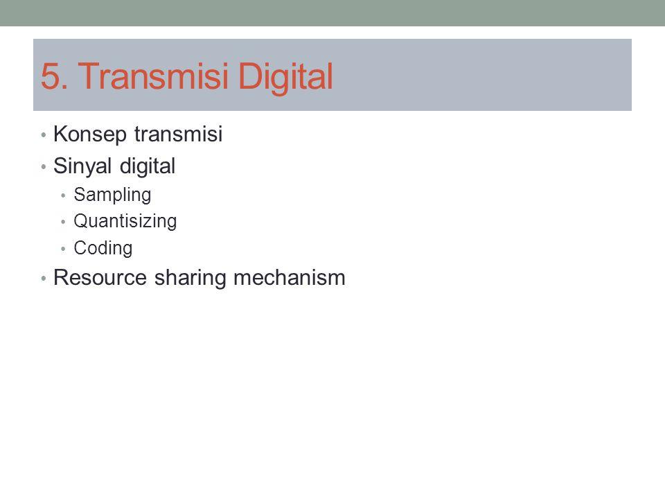 5. Transmisi Digital Konsep transmisi Sinyal digital