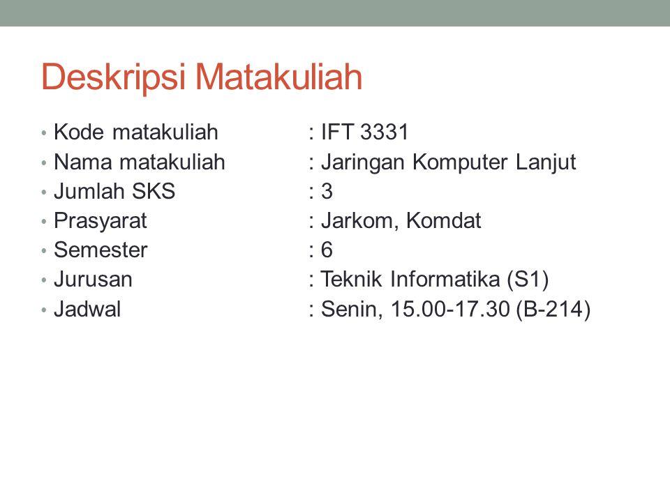 Deskripsi Matakuliah Kode matakuliah : IFT 3331