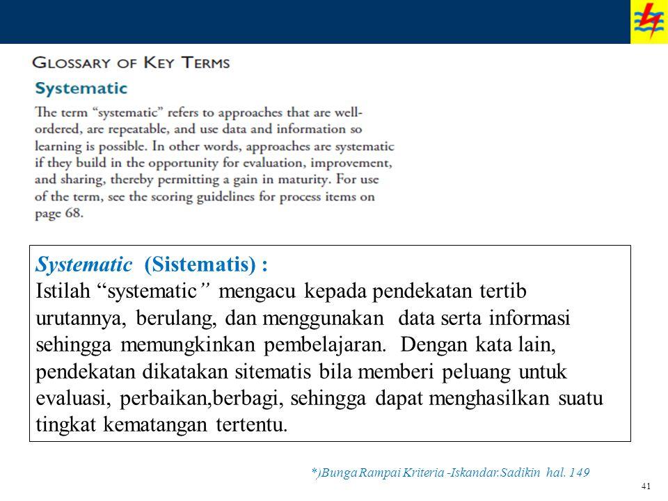 *)Bunga Rampai Kriteria -Iskandar.Sadikin hal. 149
