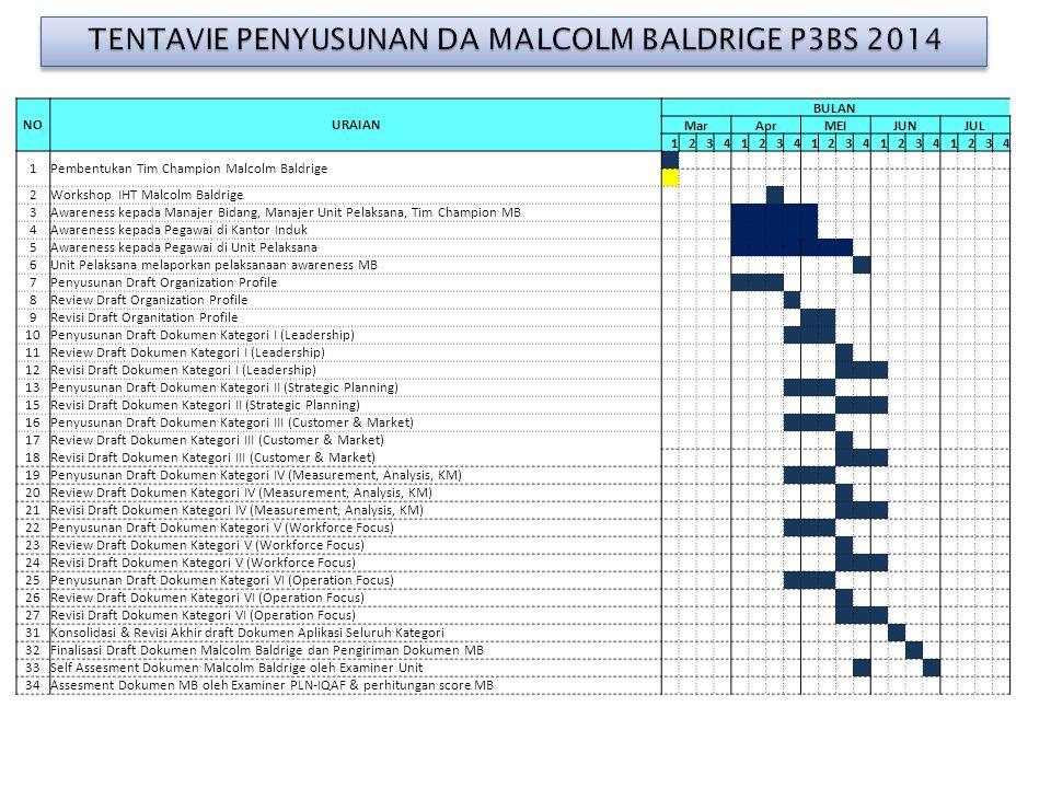 TENTAVIE PENYUSUNAN DA MALCOLM BALDRIGE P3BS 2014