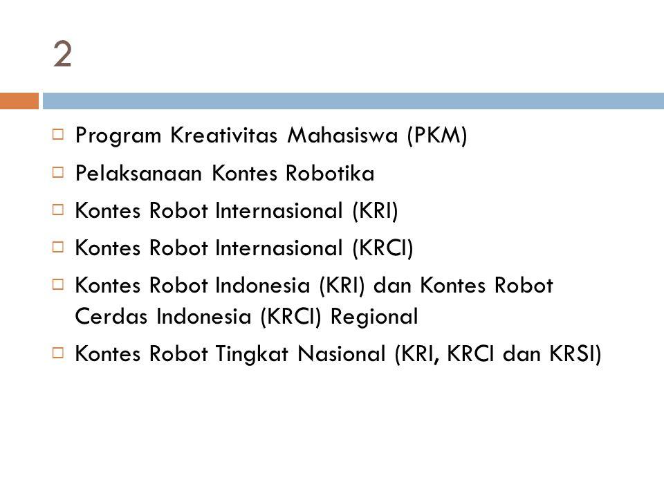 2 Program Kreativitas Mahasiswa (PKM) Pelaksanaan Kontes Robotika