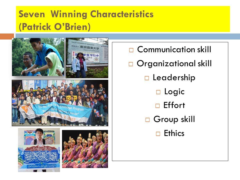 Seven Winning Characteristics (Patrick O'Brien)