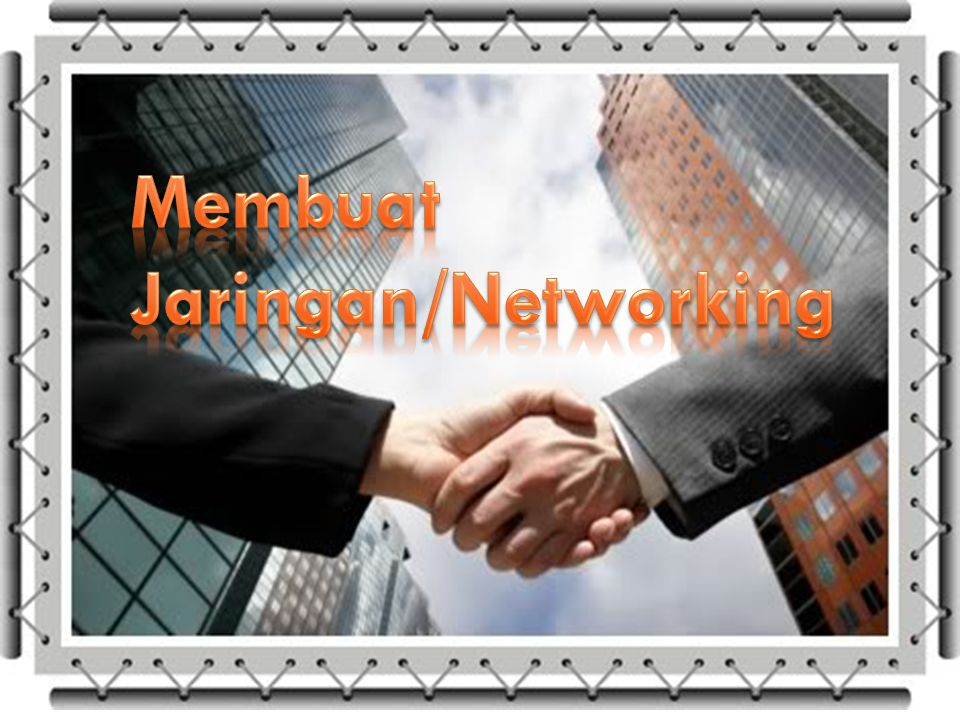 Membuat Jaringan/Networking