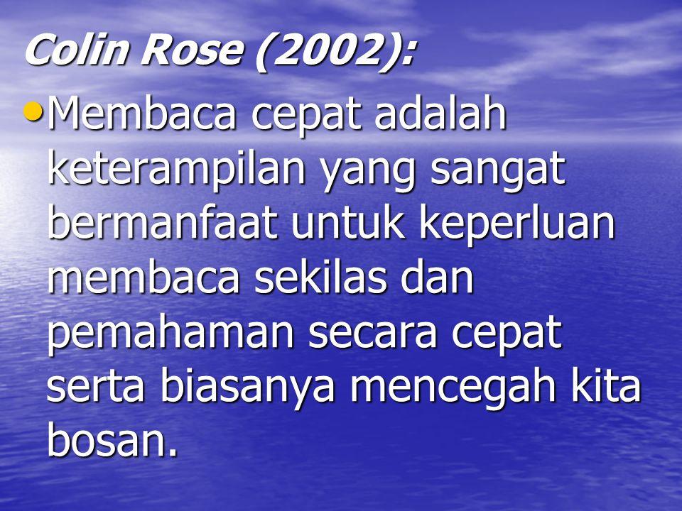Colin Rose (2002):