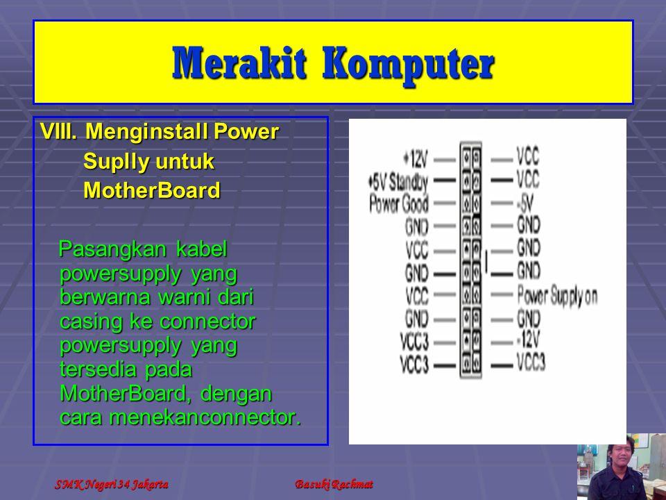 Merakit Komputer VIII. Menginstall Power Suplly untuk MotherBoard