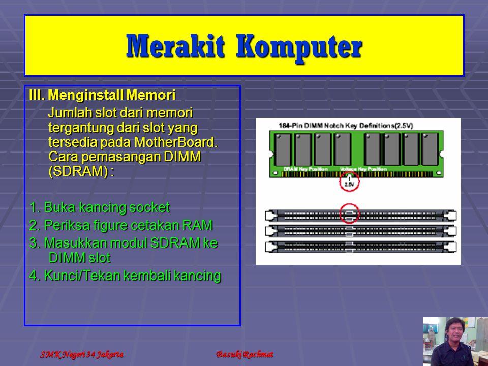 Merakit Komputer III. Menginstall Memori