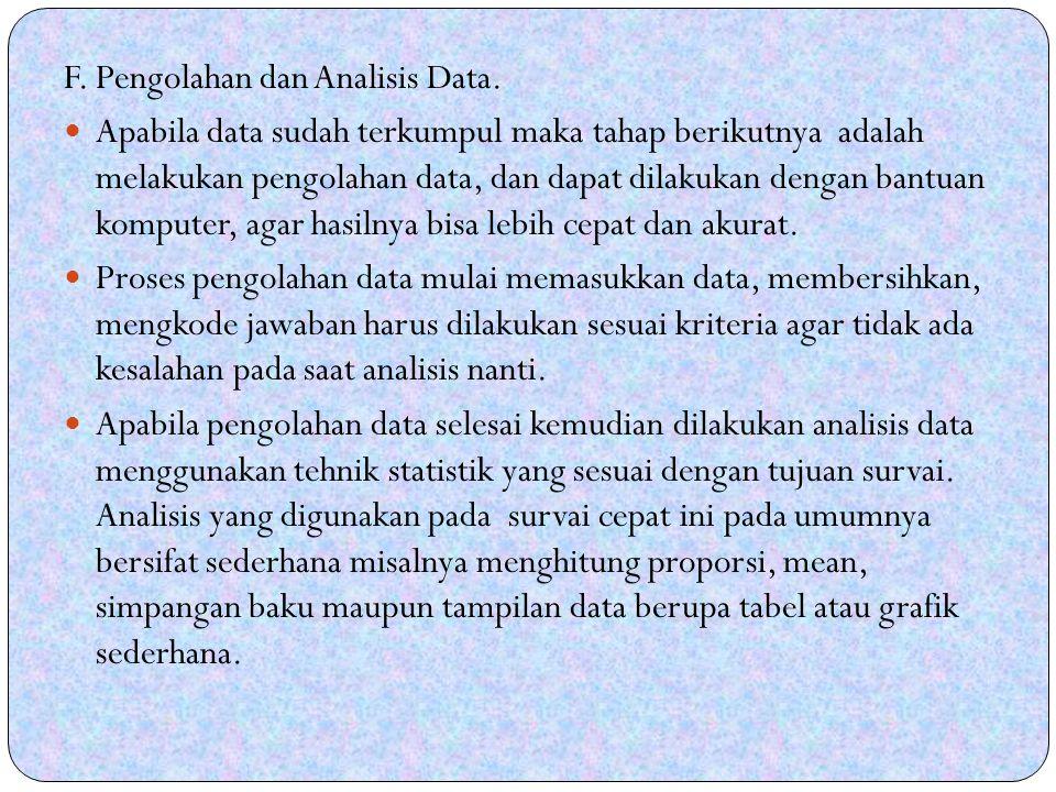 F. Pengolahan dan Analisis Data.
