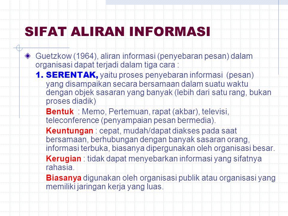 SIFAT ALIRAN INFORMASI