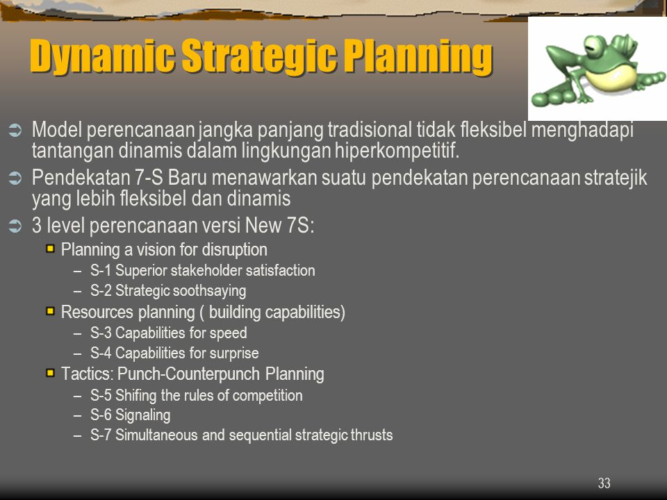Dynamic Strategic Planning