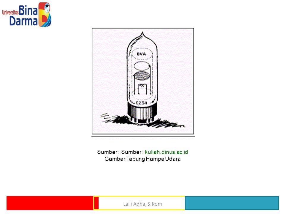 Sumber : Sumber : kuliah.dinus.ac.id Gambar Tabung Hampa Udara