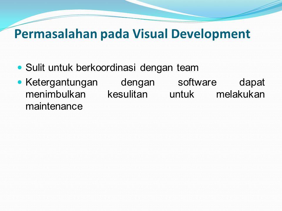 Permasalahan pada Visual Development