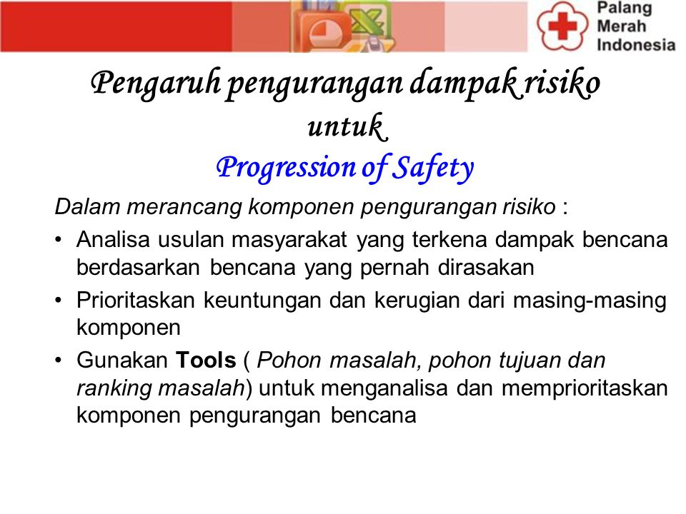 Pengaruh pengurangan dampak risiko untuk Progression of Safety