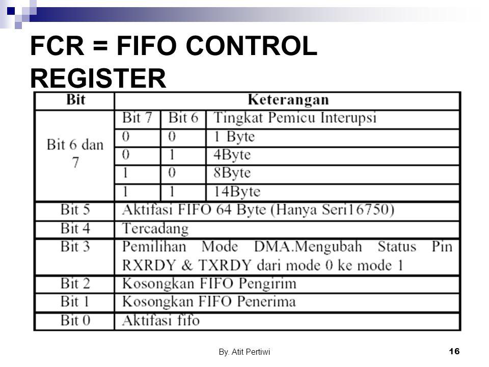 FCR = FIFO CONTROL REGISTER
