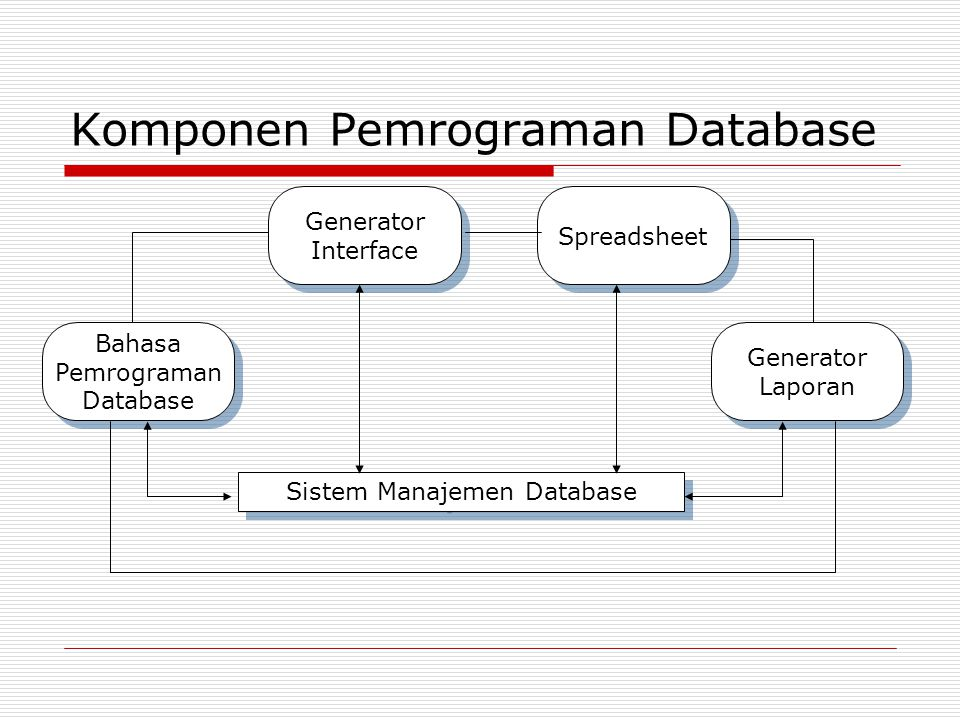 Komponen Pemrograman Database