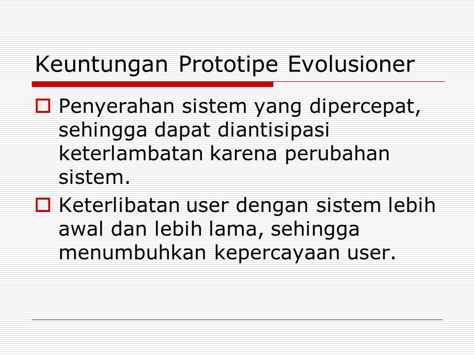 Keuntungan Prototipe Evolusioner