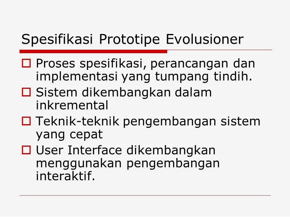 Spesifikasi Prototipe Evolusioner