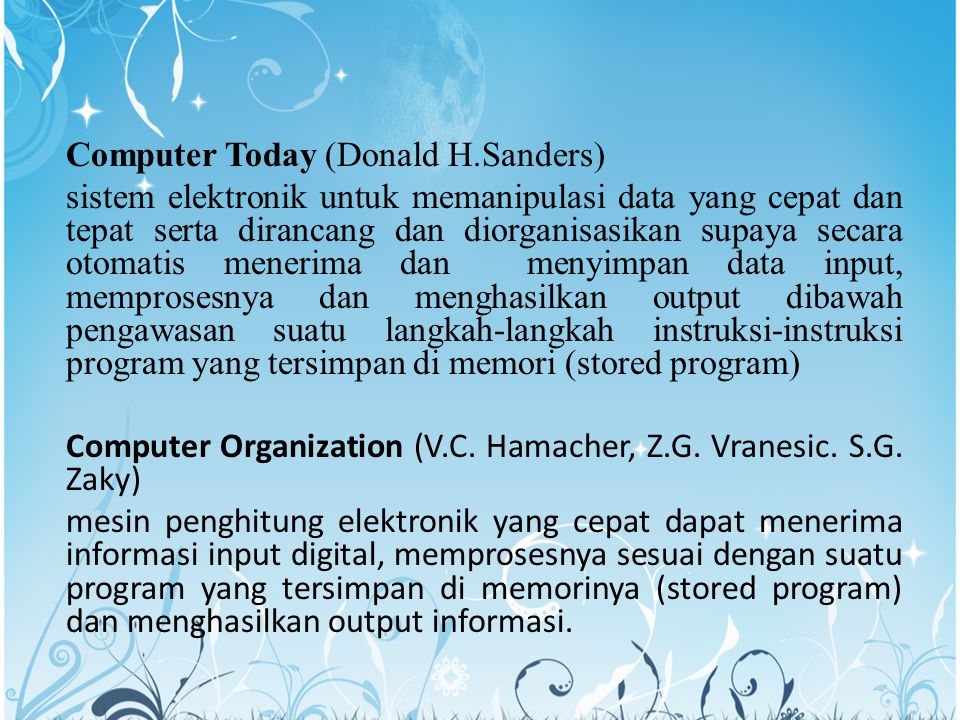Computer Today (Donald H.Sanders)